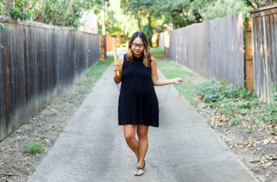 $25 Little Black Dress & Beach Waves | Stephanie Drenka