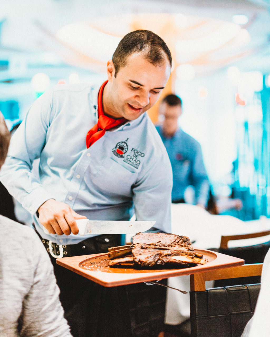 Fogo de Chão Brazilian Steakhouse features all-you-can-eat meat carved tableside